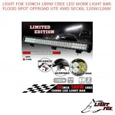 LIGHT FOX 32INCH 180W CREE LED WORK LIGHT BAR FLOOD SPOT OFFROAD