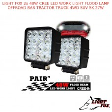 LIGHT FOX 2x 48W CREE LED WORK LIGHT FLOOD LAMP OFFROAD BAR