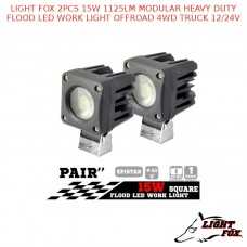LIGHT FOX 2 × 15W 1125LM MODULAR HEAVY DUTY FLOOD LED WORK LIGHT