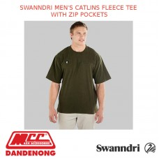 SWANNDRI MEN'S CATLINS FLEECE TEE WITH ZIP POCKETS