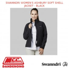 SWANNDRI WOMEN'S ASHBURY SOFT SHELL JACKET - BLACK