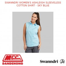 SWANNDRI WOMEN'S ASHLEIGH SLEEVELESS COTTON SHIRT - SKY BLUE