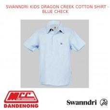 SWANNDRI KID'S DRAGON CREEK COTTON SHIRT - BLUE CHECK