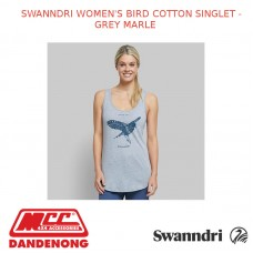 SWANNDRI WOMEN'S BIRD COTTON SINGLET - GREY MARLE