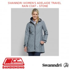 SWANNDRI WOMEN'S ADELAIDE TRAVEL RAIN COAT - STONE