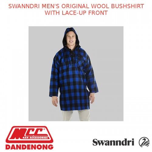 Swanndri MENS ORIGINAL WOOL BUSHSHIRT WITH LACE-UP FRONT 3XL