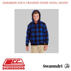 SWANNDRI KID'S CROOKED RIVER WOOL HOODY