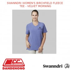 SWANNDRI WOMEN'S BIRCHFIELD FLEECE TEE - VELVET MORNING