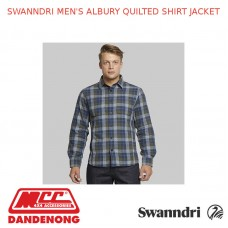SWANNDRI MEN'S ALBURY QUILTED SHIRT JACKET