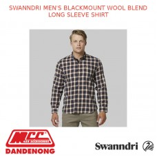 SWANNDRI MEN'S BLACKMOUNT WOOL BLEND LONG SLEEVE SHIRT