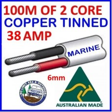 100M X 3mm 16 AMP MARINE TINNED TWO-CORE LED WIRE//ELECTRICAL CABLE BOAT//RV