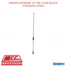 UNIDEN ANTENNA 4773B 4.5DB BLACK STAINLESS STEEL