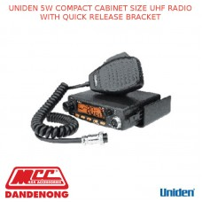 UNIDEN 5W COMPACT CABINET SIZE UHF RADIO WITH QUICK RELEASE BRACKET