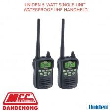 UNIDEN 5 WATT SINGLE UNIT WATERPROOF UHF HANDHELD
