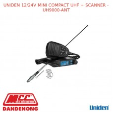 UNIDEN 12/24V MINI COMPACT UHF + SCANNER - UH9000-ANT