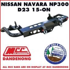 MCC REAR JACK BAR SUIT NAVARA NP300 15 - ON D23 022-03 ADR 3500KG TOWBAR ARB TJM