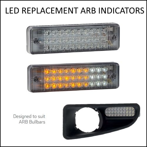 2 X Led Bull Bar Front Parker Indicator Lights Park Lamp