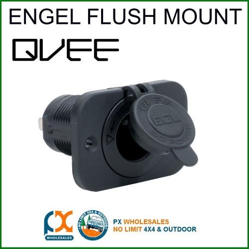 QVEE FLUSH MOUNT ENGEL SOCKET - FRIDGE CARAVAN 4WD MARINE 15AMP