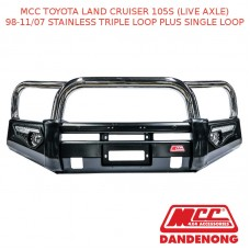 MCC PHOENIX BAR SS 3 LOOP PLUS 1 LOOP-LANDCRUISER 105S(LIVE AXLE) (98-11/07)-SSL