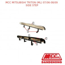 MCC BULLBAR SIDE STEP SUIT MITSUBISHI TRITON (ML) (07/2006-08/2009) - BLACK