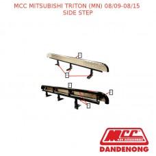 MCC BULLBAR SIDE STEP SUIT MITSUBISHI TRITON (MN) (08/2009-08/2015) - BLACK