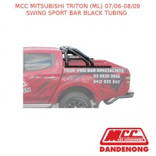 MCC SWING SPORT BAR BLACK TUBING SUIT MITSUBISHI TRITON (ML) (07/06-08/09)