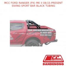 MCC SWING SPORT BAR BLACK TUBING SUIT FORD RANGER (PX) MK II (08/15-PRESENT)