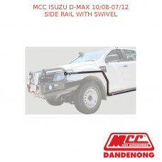 MCC BULLBAR SIDE RAIL WITH SWIVEL SUIT ISUZU D-MAX (10/08-07/12) BLACK