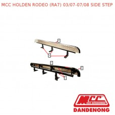 MCC BULLBAR SIDE STEP SUIT HOLDEN RODEO (RA7) (03/2007-07/2008) - BLACK