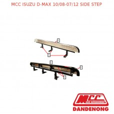 MCC BULLBAR SIDE STEP SUIT ISUZU D-MAX (10/2008-07/2012) - BLACK