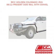 MCC BULLBAR SIDE RAIL WITH SWIVEL - HOLDEN COLORADO (RG) (06/12-PRESENT) - BLACK