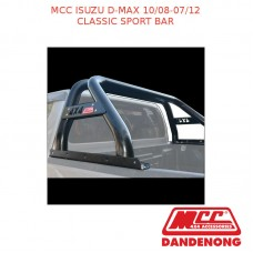 MCC CLASSIC SPORT BAR BLACK TUBING SUIT ISUZU D-MAX (10/08-07/12)