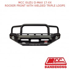 MCC BULLBAR ROCKER FRONT WITH WELDED TRIPLE LOOPS SUIT ISUZU D-MAX (2017-20XX)