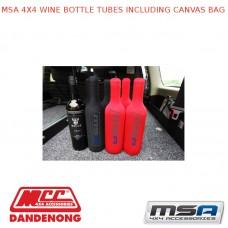MSA 4X4 WINE BOTTLE TUBES INCLUDING CANVAS BAG